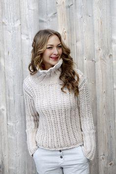 Naisen pitsineulepusero Novita Naava | Novita knits