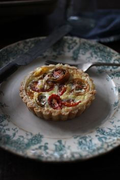 Mini Heirloom Tomato Tartlets with a Parmesan Crust | The Flourishing Foodie