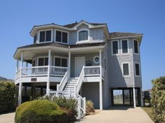 'Seaside One' is a 5 bedroom vacation rental home located in Nags Head, Nc. Elevator accesses all 3 levels.  Managed by Village Realty.  Property I.D. is SS01