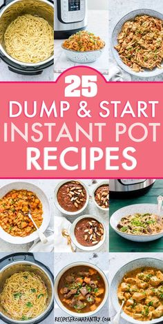 25 Instant Pot Dump And Start Recipes {That You&;ll Actually Love} 25 Instant Pot Dump And Start Recipes {That You&;ll Actually Love} James Mason Food ideas Save time with these […] pot lunch recipes Lunch Recipes, Appetizer Recipes, Crockpot Recipes, Cooking Recipes, Weeknight Recipes, Dump Recipes, Family Recipes, Best Instant Pot Recipe, Instant Pot Dinner Recipes
