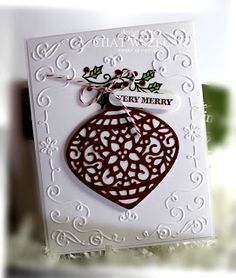 Delicate Ornaments thinlits dies, Embellished Ornaments, Me My Stamps and I, Stampin' Up