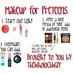 """Jay's Tips 'n Tricks"" by the-wholock-way on Polyvore. @/chloe_cool11 asked me Dear Jay, What are some good ways to start wearing makeup as a PreTeen?  Thanks for requesting! Keep the questions coming!"