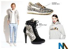 trend #3 sporty-chic  de sneakertrend wordt doorgetrokken naar de kledij. comfortabele joggings worden ook met hoge hakken gecombineerd en mannen in pak dragen deze gewoon met sneakers. voor een vrouwelijke touch worden er ook veel juwelen toegevoegd