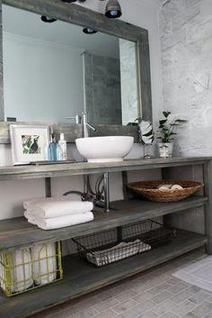 open shelves for under sink, in butcher block