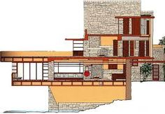 Afbeelding van http://www.alexandrazaldana.com/architect/images/fallingwater.jpg.