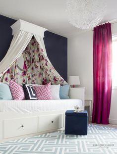 Tea Party Chic - Girl's Bedroom. Teen Canopy BedGirls ...