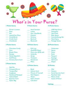 This listing is for a printable digital file of the Shower Whats In Your Purse? Game. The size is 8.5x11 and can be printed on card stock or