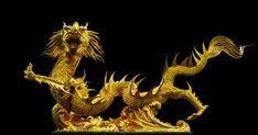 Golden Dragon, Broncefigur, Gold - Free Image on Pixabay