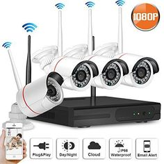 SW SWINWAY HD 1080P Waterproof Wireless Camera System 4pcs Wireless IP Security Camera Wifi NVR Kit 2 Megapixel Home Surveillance Outdoor Camera NO Hard Drive | Wireless Outdoor Cameras #besthomesecuritysystem