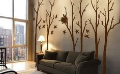 Living Room Birds Wall Stickers Wall Painting