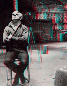 Andy Warhol in the studio. Photo Ugo Mulas