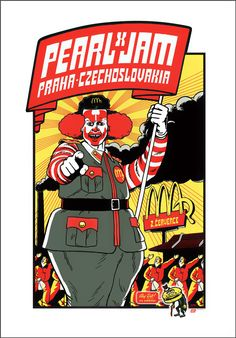Pearl Jam show poster