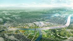 Green Loops City masterplan for Hengyang, China by ADEPT