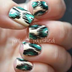 Wallpaper-print nails.