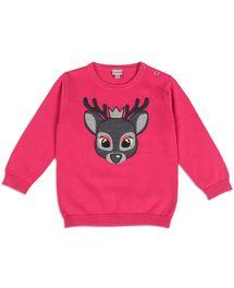 Leuke trui van Prenatal met een lief hertje. Bij de nek zitten handige knoopj...
