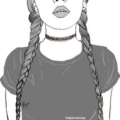 tumblr girls drawing - Google Search