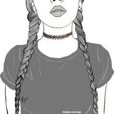 Resultado de imagem para outlines tumblr Cool Girl Drawings cf3731660ce