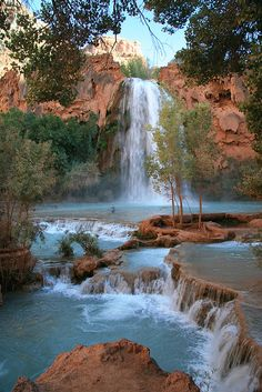 Now that is a waterfall!   Havasu Falls by Frank Kehren, via Flickr