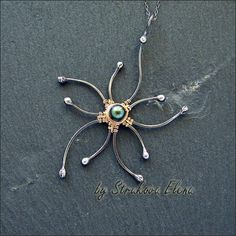 Strukova Elena - цветочный кулон