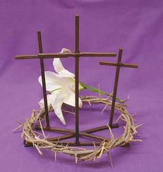 F.A. Dumont Church Supplies Crown of Thorns with Golgotha Cross
