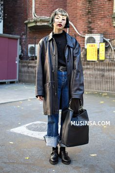 Hipster Grunge, Grunge Goth, Street Style Vintage, Cool Outfits, Fashion Outfits, Looks Street Style, Androgynous Fashion, Over The Top, Korean Street Fashion