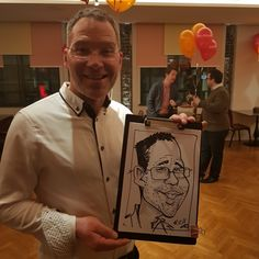 Master Card Christmas party  caricature
