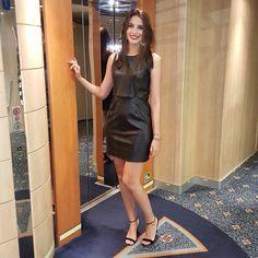 @lookbyus leather black dress vestido de couro preto look fashion style
