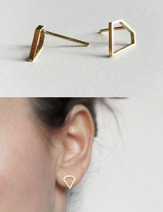 Diamond shaped earrings, what a tease... its looks like a chalk outline of where a diamond used to be...