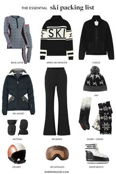 Contrary to what some may think, what to wear skiing and snowboarding is not simply what you might wear on a normal winter day. Here's a handy checklist of what to wear when you are hitting the slopes! #ski #snowboard #packinglist Ski trip packing list, what to wear skiing, what to wear skiing clothes, ski trip outfit, ski trip essentials, ski trip outfit woman, ski trip packing list women Ski Trip Packing List, Packing Lists, Ski Trip Outfit Woman, Snowboarding, Skiing, Shopping Places, What To Wear, Cool Style, Cute Outfits