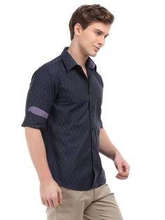 V Dot Men Blue Checked Shirt   Myntra via @Myntra.com PRODUCT CODE: 119369  Rs. 2,299