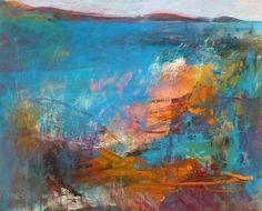 """Saatchi Art Artist GEORGE KARAFOTIAS; Painting, """"Island of Santorini"""" #art"""
