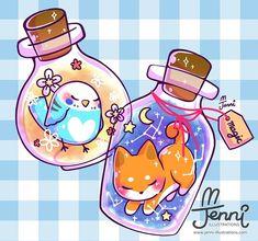 Cute Kawaii Animals, Cute Animal Drawings Kawaii, Cute Drawings, Chibi Kawaii, Anime Chibi, Kawaii Anime, Kawaii Wallpaper, Cute Wallpaper Backgrounds, Cute Cartoon Wallpapers