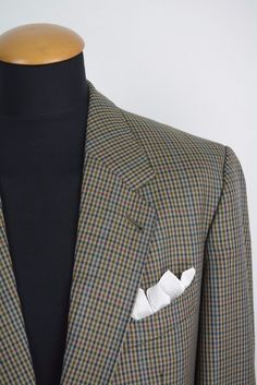 Mens Scabal Made to Measure size 40R Blazer Wool Gingham Cheks Plaid gr. 50 in Clothes, Shoes & Accessories, Men's Clothing, Suits & Tailoring | eBay!
