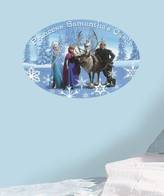 Take a look at the Frozen Group Personalized Peel & Stick Wall Decal on #zulily today!