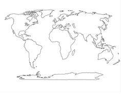 World map template for the home pinterest template outlines blank world maps with countries papers map worksheet outline fill in the gumiabroncs