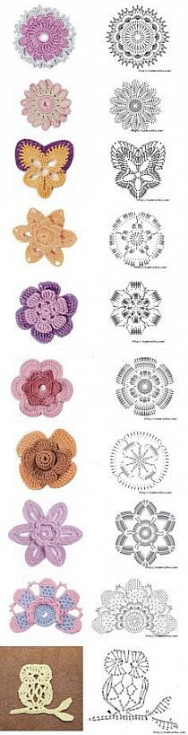 Hobby na Stylowi.pl... Lots of flower motifs and diagrams!!