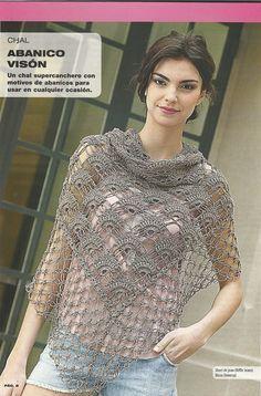 Motif Scarf free crochet graph pattern