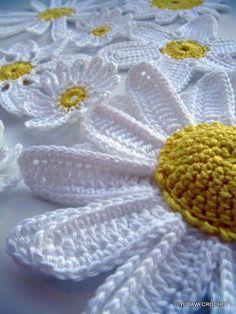 Crochet Daisy Flowers Crochet Pattern By Lyubava Crochet