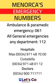 Menorca Emergency Hospital Guide plus Dentists for emergency treatment #menorca #menorcaspain #menorcahosp[ital