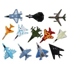 Smarterbuy Toys not only promotes fun and imagination, but also teaches your child about new areas of life. Promoting imagination and creativity in new ways. Set of 12 die cast metal fighter jet toys.  #Military #Model #Planes #Toys