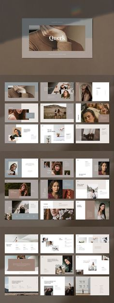 QUERK Keynote Presentation Template on Creative Market #keynote #presentation