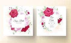 Beautiful Wedding Invitations, Wedding Invitation Cards, Background Banner, Vector Background, Blooming Rose, Peony Flower, Flower Frame, Peonies, Wedding Flowers