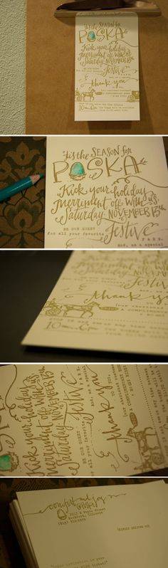 handlettering from lindsay letters