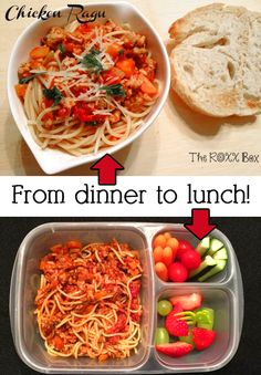 Easy lunches with leftovers! Packed in #easylunchboxes