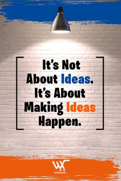 Ideas won't work on their own, you need to make it happen. If you have an idea then hustle and work towards making it happen. If you have an idea about starting your #onlinestore then we will help you build one. Ecommerce Solutions, Make It Happen, Shit Happens, Hustle, Ideas, Thoughts, Hustle Dance