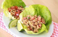 No bread, no problem! Try @HungryGirl 's Mexi-Tuna Lettuce Wraps for lunch tomorrow! Only 100 calories per serving! #lunch