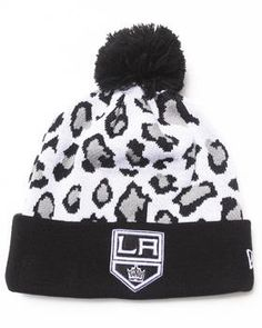 Love this Los Angeles Kings Team Snow Leopard Knit Hat by... on DrJays. Take a look and get 20% off your next order!