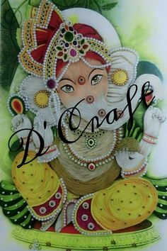 Beautiful Quilled Ganesha..............