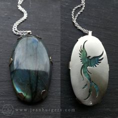 Phoenix Pendant - Handcut sterling silver and labradorite - Spirit Animal Series