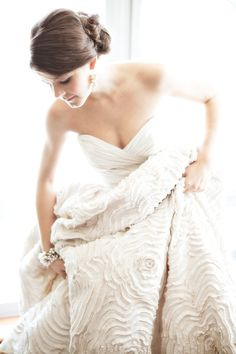 The most beautiful wedding dress I've ever seen... Dahlia by Amsale